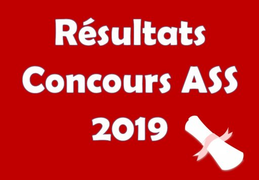 Admissions concours ASS 2019