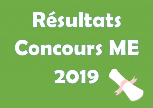 Admissions concours ME 2019